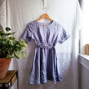 Dresses & Skirts - Lilac and white striped summer dress size S